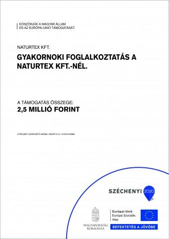 Naturtex Kft. Gyakornoki foglalkoztatás A3