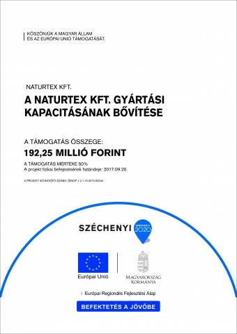Naturtex Kft. gyártási kapacitásának bővítése A2