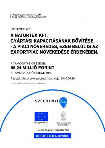 Naturtex Kft. gyártási kapacitásának bővítése A3